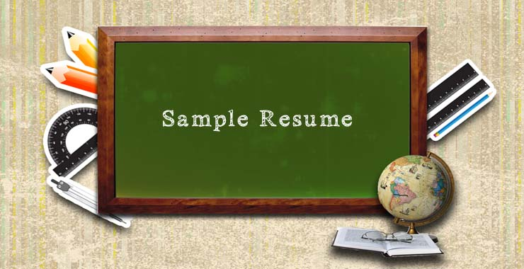 Sample resume format for bank po interview